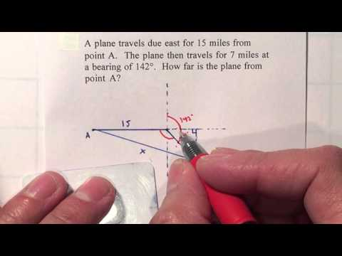 P2 Trig Unit 7 - Bearing Navigation Law of Cosines
