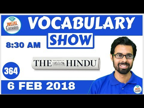 8:30 AM - Daily The Hindu Vocabulary with Tricks (6th Feb, 2018) | Day- 364