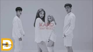 [1 HOUR LOOP] K.A.R.D - Don't Recall