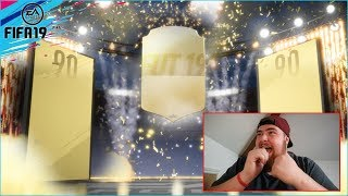 90+ RATED WALKOUT! FIFA 19 HYBRID LEAGUES SBC REWARD PACKS OPENING ULTIMATE TEAM