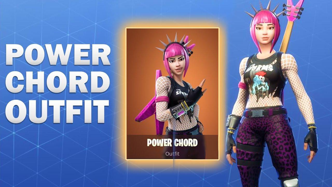 Power Cord Fortnite Skin : Power chord fortnite skin showcase youtube