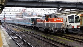 2018/04/15 【東京メトロ 07系 07-103F 甲種輸送】 9290レ DE10-1749 八王子駅