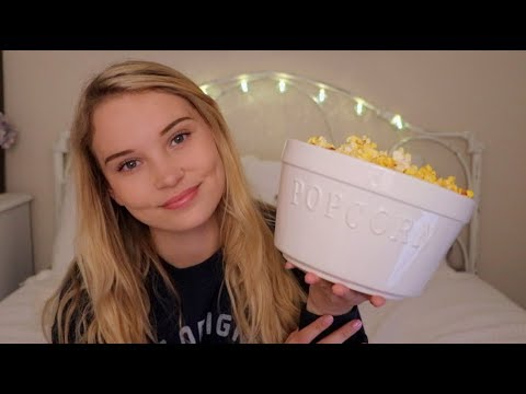ASMR Sleepover Roleplay ♥ Spa, Makeup, Popcorn, Coloring