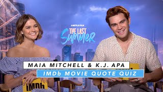 KJ Apa and Maia Mitchell Play The Romantic Movie Quote Game