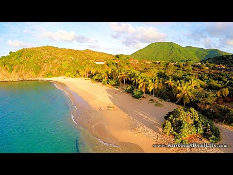 St Maarten, SXM - Splash Drone tour of Marigot Bay, and Happy Bay, on French St Martin, Caribbean!