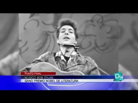 Músico Bob Dylan ganó Premio Nobel de Literatura