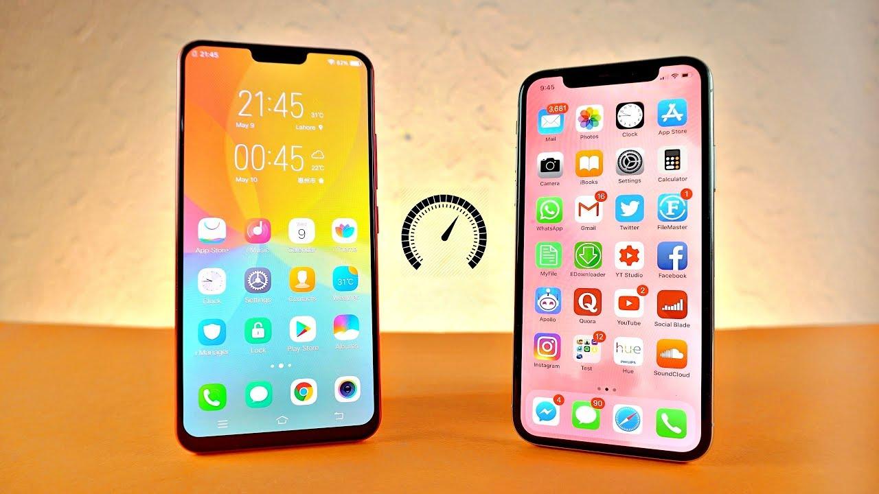 Vivo X21 UD vs iPhone X - Speed Test!