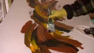 """Acrylmalerei """"Herbststurm"""", acrylic painting autumn storm"""