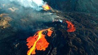 Amazing volcano Piton de la Fournaise  - Drone expedition 29/08/2015