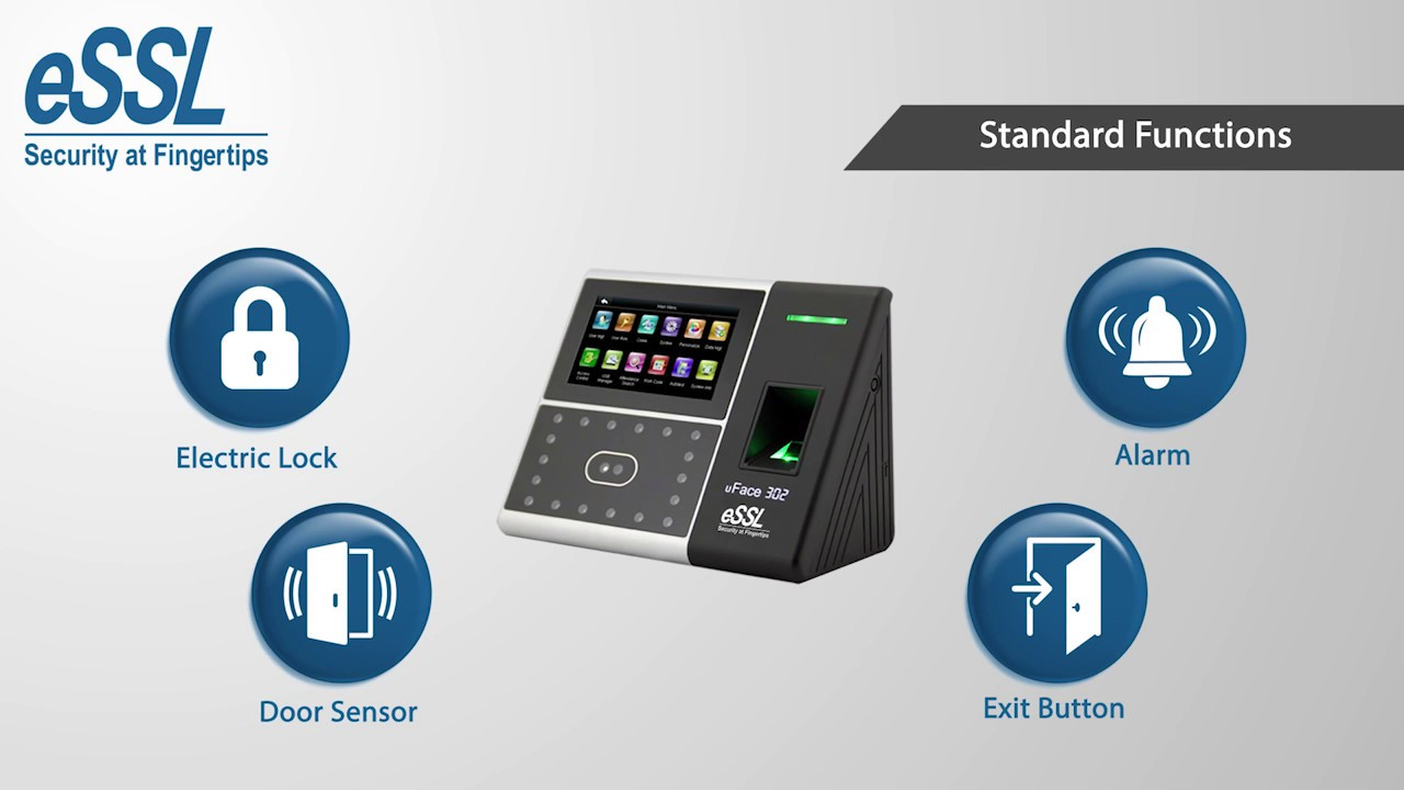 eSSL uface302 Multibiometric Time Attendance & Access control System