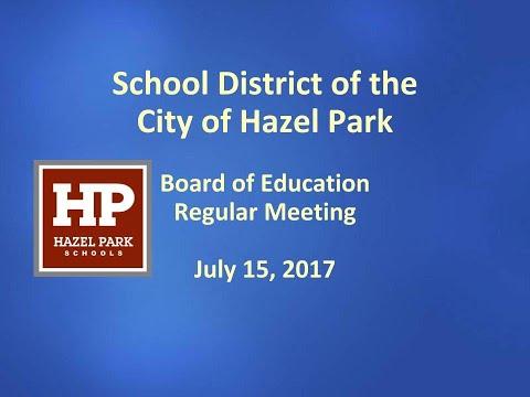 Board of Education July 17, 2017
