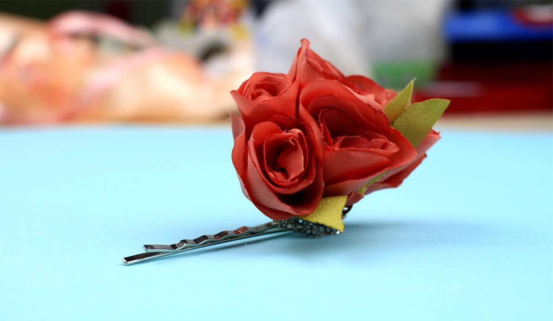 Diy Silk Flower Pin Youtube