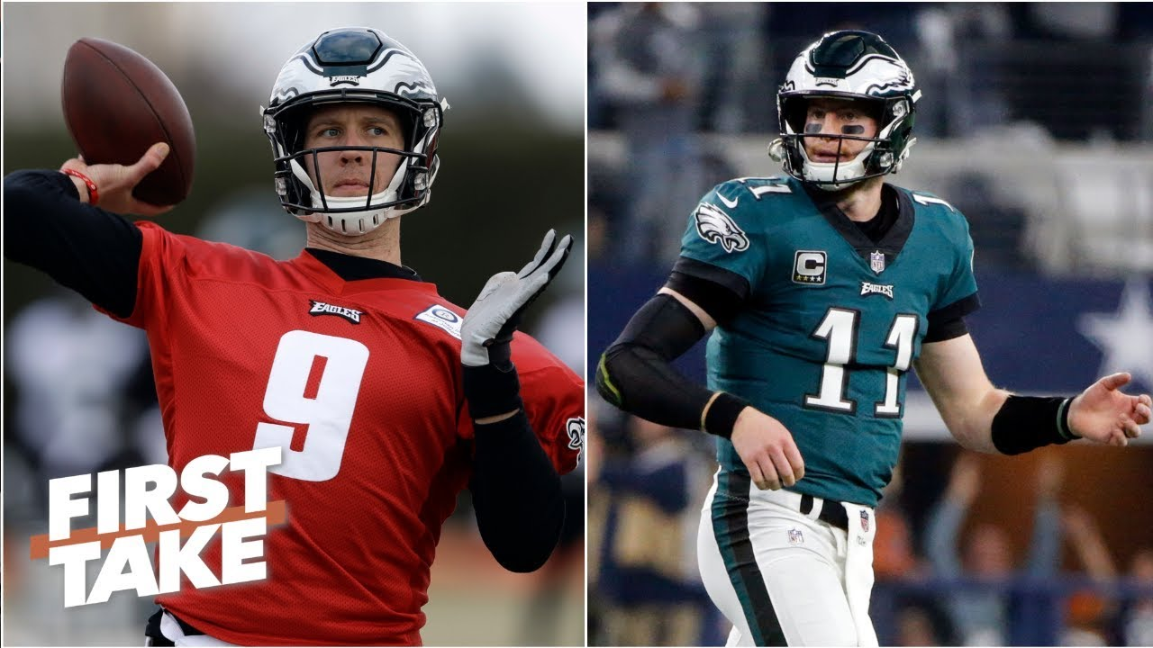 Does Carson Wentz's back injury prove Eagles keeping Nick Foles was the right move? | First Take