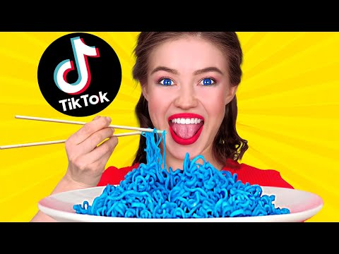 WE TESTED VIRAL TikTok TRICKS TO SEE IF THEY WORK || Coolest Food Hacks by 123 GO! FOOD
