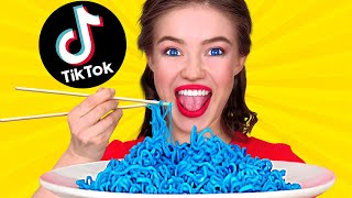 WE TESTED VIRAL TiĸTok TRICKS TO SEE IF THEY WORK || Coolest Food Hacks by 123 GO! FOOD