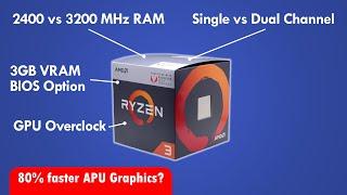 Ryzen 3 APU Vega Graphics Tweak Guide! You could be getting 80% lower performance!