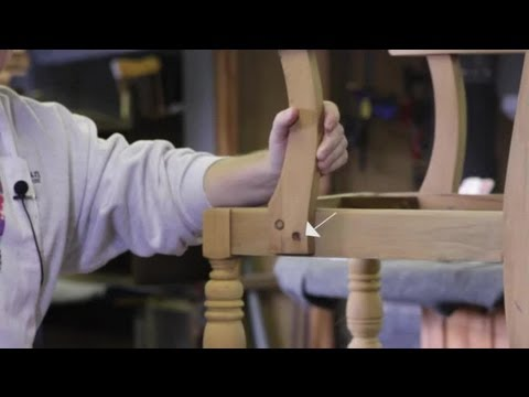How to Remove Wood Plugs on Wood Chairs : Wood Furniture