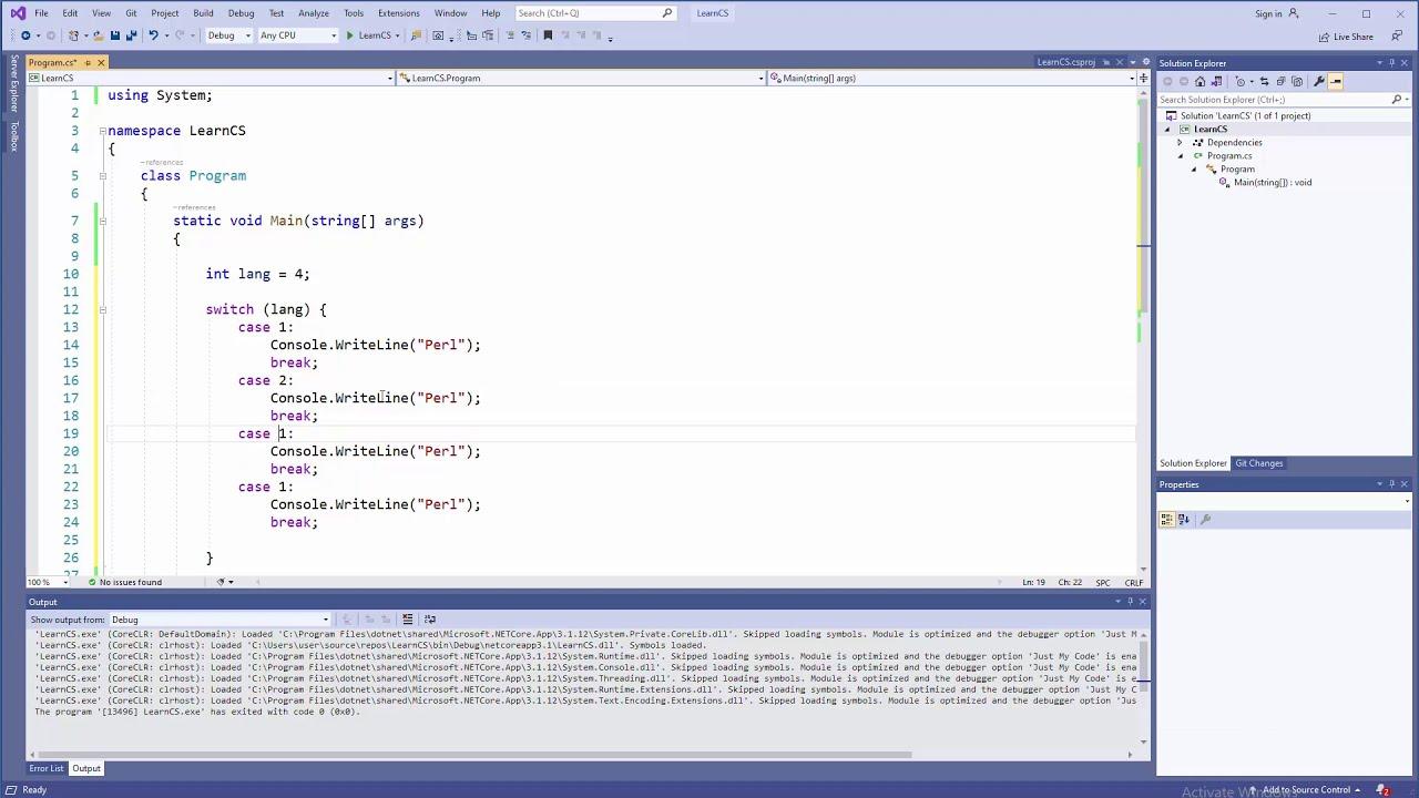 C# Tutorial - Switch Statement