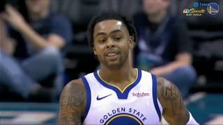 Golden State Warriors vs Charlotte Hornets - D'Angelo Russell Highlights 18 Pts, 2 Asts, and 2 Rbds