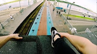 A Ride On The Roof Of The Metro Train