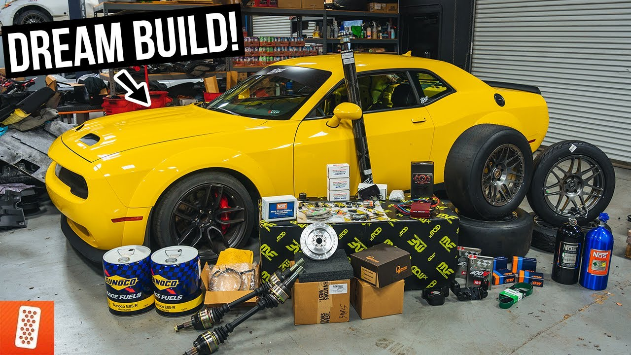 Building and Heavily Modifying a 2019 Dodge Challenger SRT Hellcat Redeye for Drag Racing - Part 1