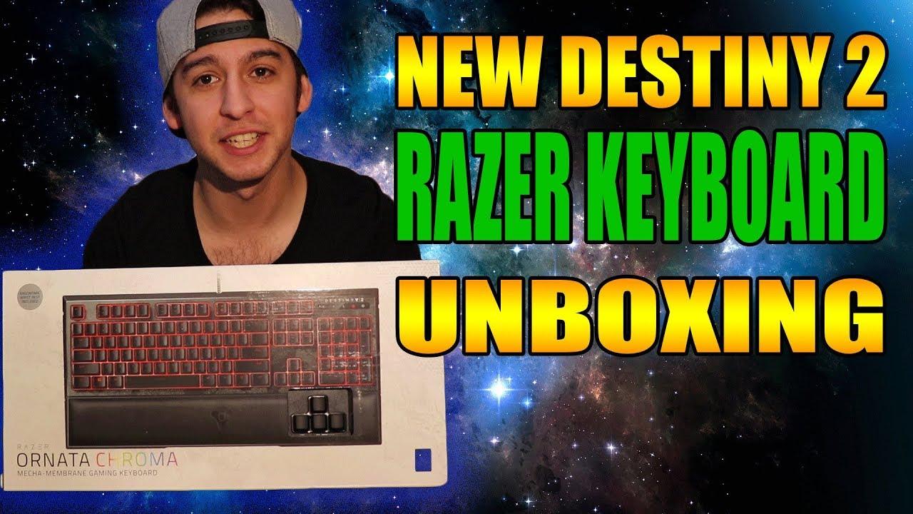 Razer Keyboard Unboxing Destiny 2 Ornata chroma mecha membrane gaming  keyboard