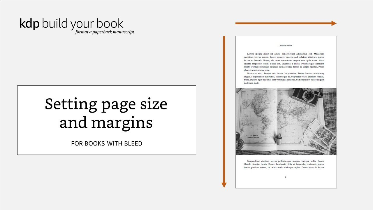 Setting page size and margins: For books with bleed