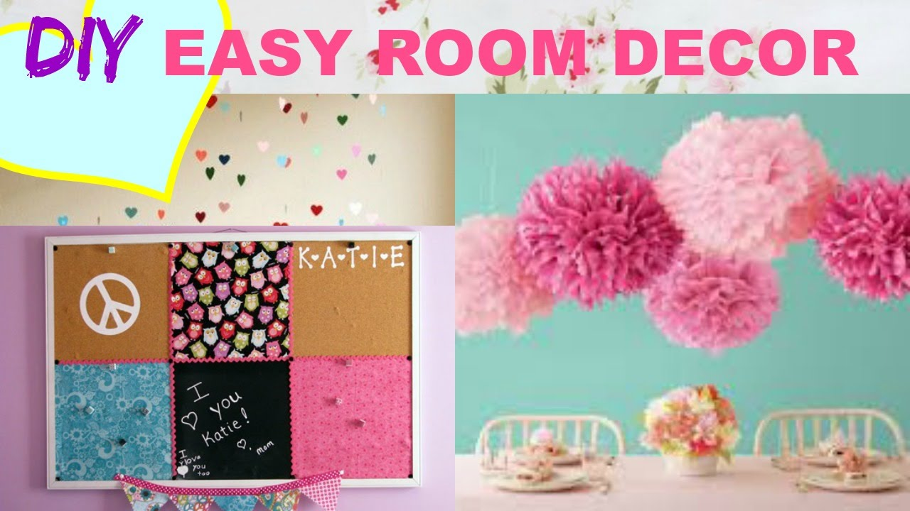 DIY Girls Room Tour + Decor   YouTube