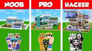 MINECRAFT: FAMILIA NOOB vs PRO vs HACKER 👨👩👦 LA CASA DE LA FAMILIA MÁS SEGURA DESAFÍO Minecraft