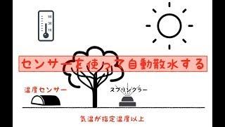【自動撒水】温度センサーを使って自動散水する装置を作る① thumbnail