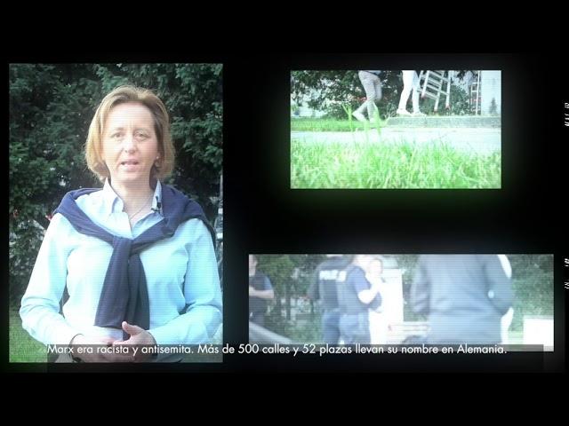 Beatrix von Storch (AfD) - El monumento del racista Karl Marx cubierto