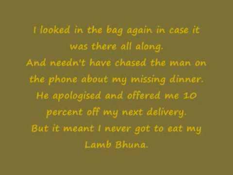 My Lamb Bhuna Chris Moyles (Alexandra Burke Hallelujah.) !!