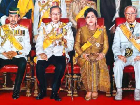 A Masterpiece Oil Painting Celebrating The Great King of Thailand
