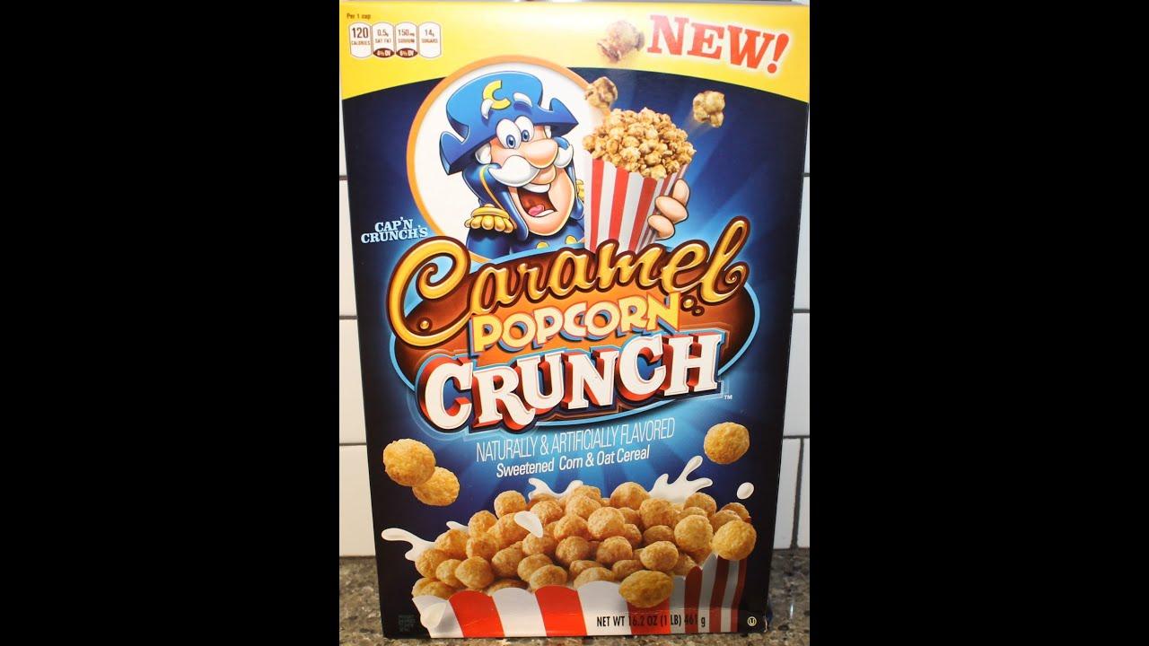 Capn Crunchs Caramel Popcorn Crunch Cereal Review YouTube