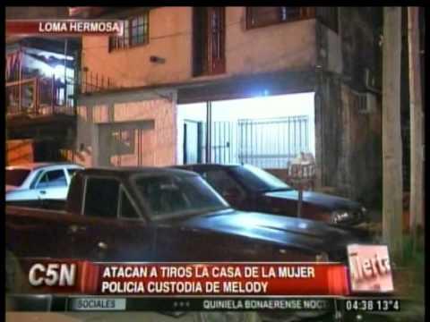 C5N - CASO MELINA ROMERO: ATACARON A TIROS LA CASA DE LA MUJER POLICIA CUSTODIA DE MELODY (PARTE 1)