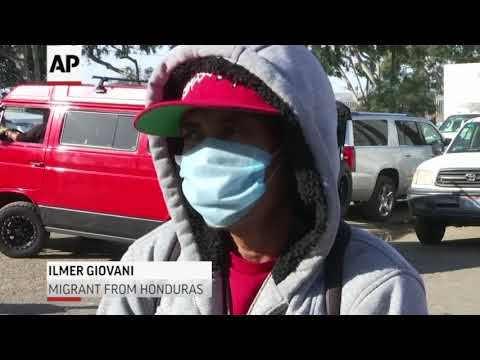 Migrants waiting in Mexico after border clashes