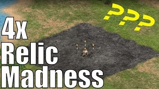 AoE2 Relic Madness | 4 Relic Challenge Map!