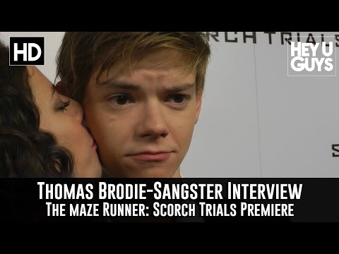 Thomas Brodie-Sangster Interview - The Maze Runner: Scorch Trials Premiere