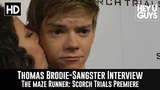 Thomas Brodie-Sangster Interview - The Maze Runner Scorch Trials Movie Premiere