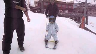 Miro's 1st day on skis Thumbnail