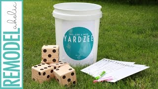 DIY Wooden Dice for Yardzee Game with Free Game Printables