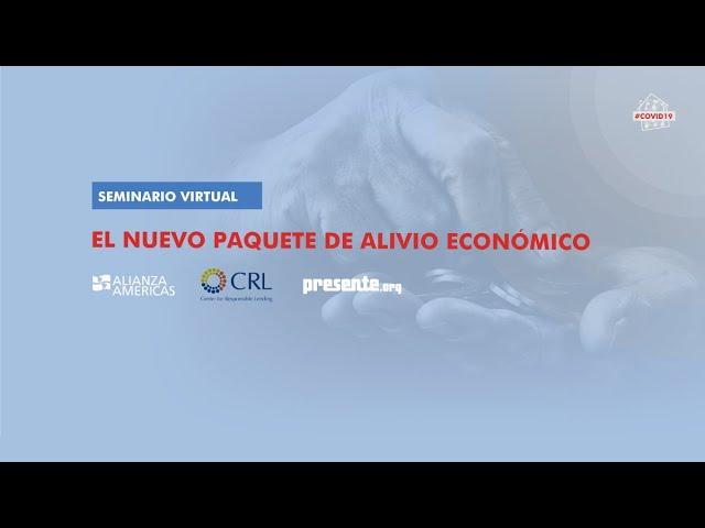 Seminario virtual | Tercer paquete de alivio económico