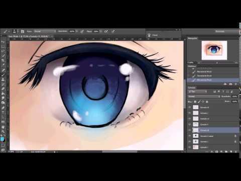 Anime Eye Drawing Coloring Speedpaint Youtube