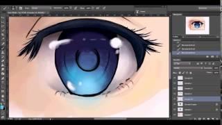 Anime Eye drawing/coloring-Speedpaint