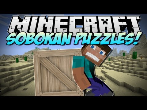 Minecraft | SOKOBAN PUZZLES! (Play and win rewards!) | Mod Showcase [1.5.2]