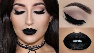 ⭐Perfect Cat Eyeliner & Black Lipstick | Melissa Samways⭐