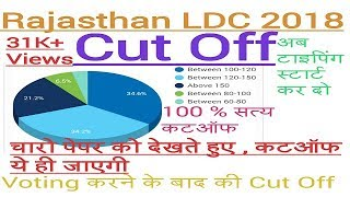 RAJASTHAN LDC CUT OFF 2018 || 100% REAL || After all Exam