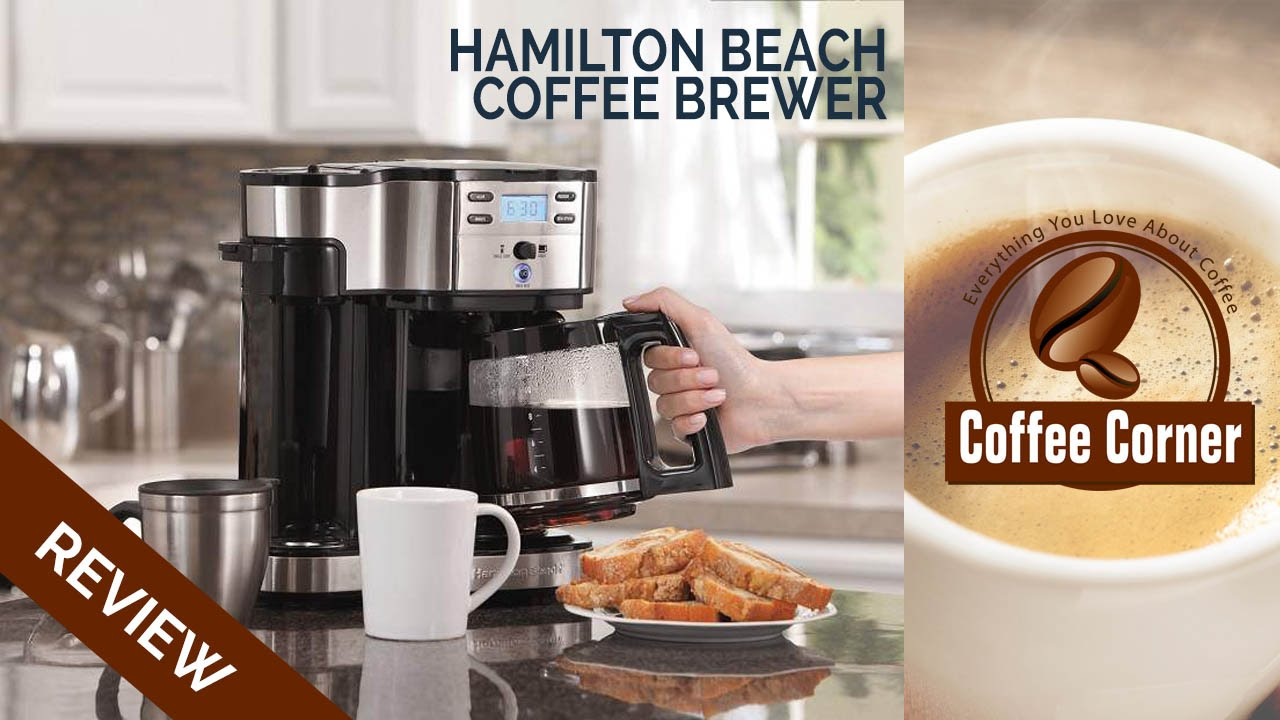 Review Hamilton Beach Single Serve Coffee Brewer And Full Pot