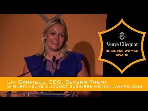 Veuve Clicquot Business Woman Award 2018 Winner - Liv Garfield, CEO, Severn Trent