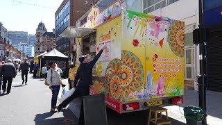 """Indian Street Food: Dahi Puri, Paneer Kathi Roll at """"Curry On Naanstop"""" Mobile Kitchen Truck, London"""